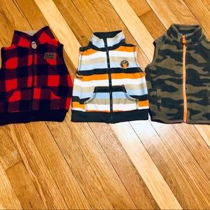 Set of (3) Carter's Boys 9mo Vests